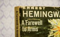 Book By Ernest Hemingway 30 Wide Wallpaper