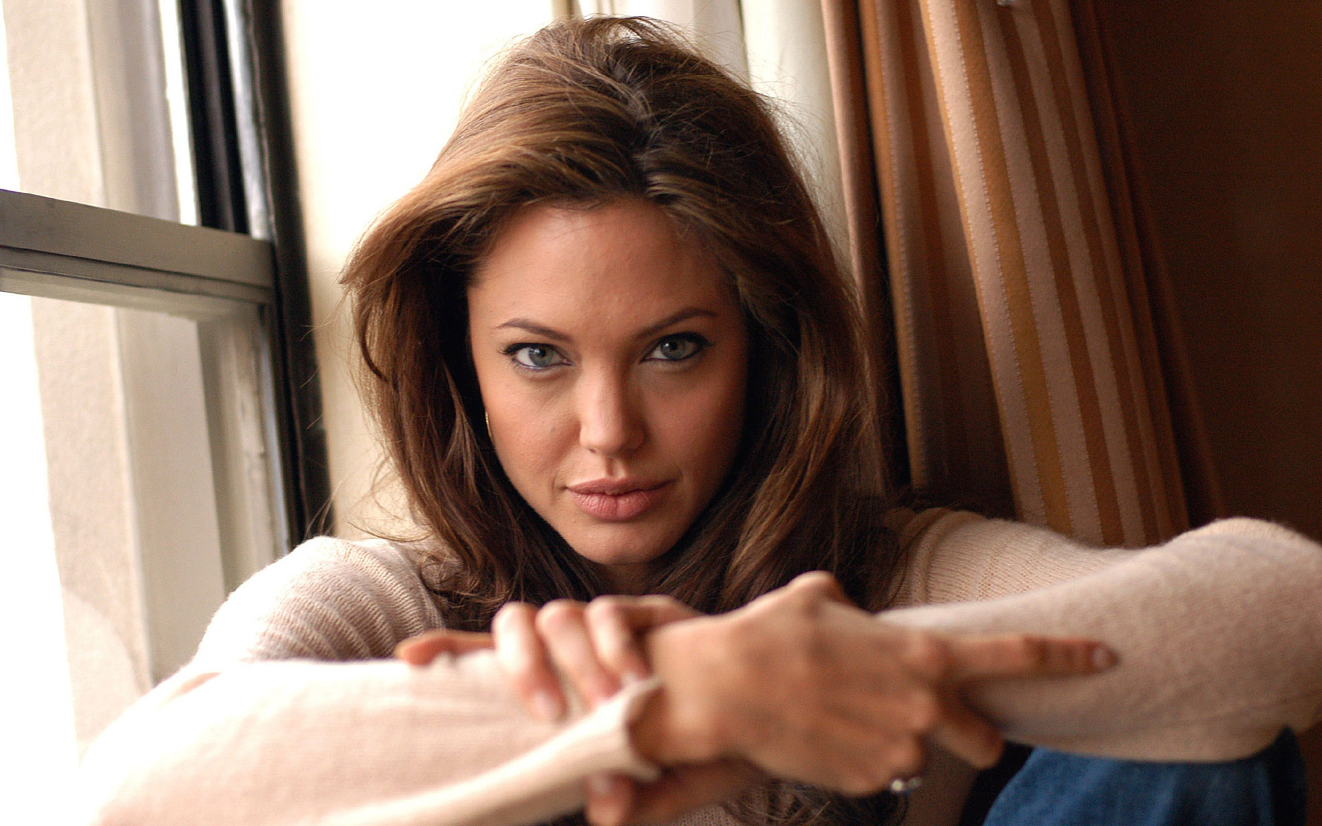 Angelina Jolie 40 Widescreen Wallpaper