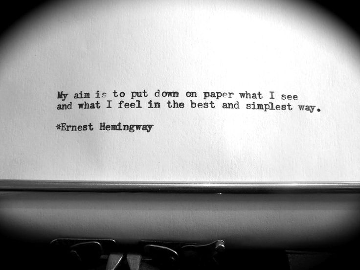 analysis of hemmingway quote essay